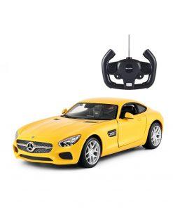Masina cu telecomanda Rastar Mercedes - Benz AMG GT 1:14, Galben