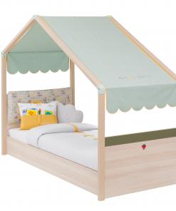 Pat din pal pentru copii Montessori New Natural / Verde