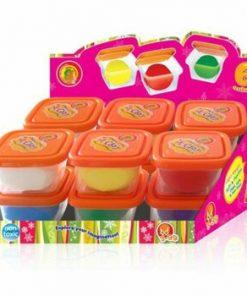 Plastilina modelaj, 12 cutii, 6 culori