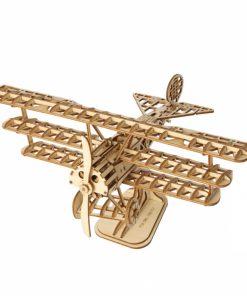 Puzzle 3D Avion, Lemn, 145 piese