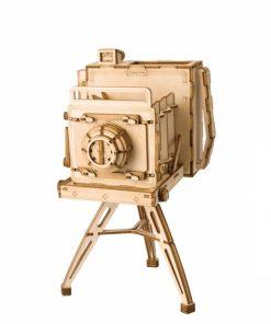 Puzzle 3D Camera Vintage, Lemn, 140 piese