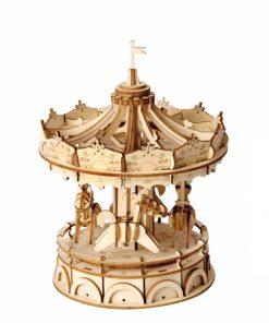 Puzzle 3D Carusel, Lemn, 178 piese