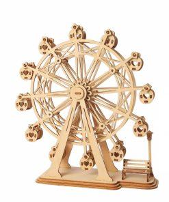 Puzzle 3D Ferris Wheel, Lemn, 120 piese