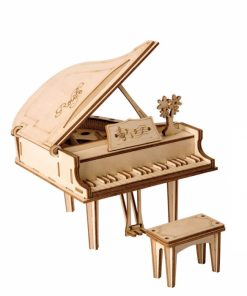 Puzzle 3D Grand Piano, Lemn, 74 piese