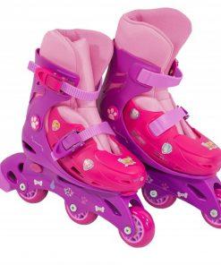 Role pentru copii cu 3 roti Saica 2230 Paw Patrol Girls marime reglabila 28-31 roti interschimbabile frana de picior