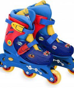 Role pentru copii cu 3 roti Saica 2404 Comic marime reglabila 31-34 roti interschimbabile frana de picior