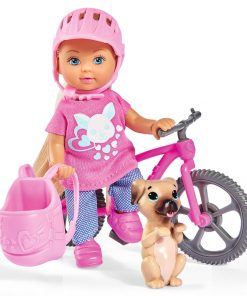 Papusa Simba Evi Love Holiday Bike 12 cm