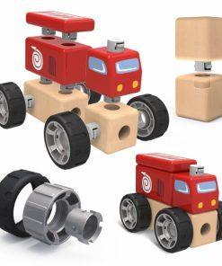 Set constructie masina de pompieri cu sunete TopBright.