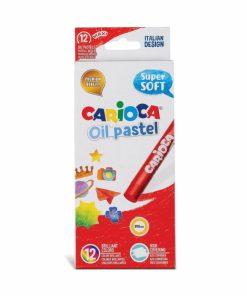 Creioane cerate rotunde Carioca Oil Pastel.