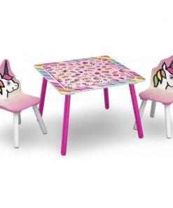 Set masuta si 2 scaunele Rainbow