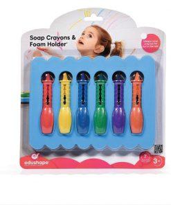 Set creioane colorate de sapun pentru baie Edushape