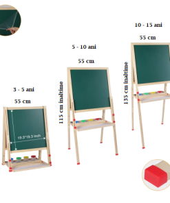 Tabla magnetica cu 2 suprafete si sevalet pictura.