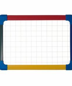 Tabla magnetica cu 2 fete, rama color A4 Bi-Silque.