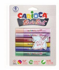 Vopsea pentru textile Carioca Fabric Paint - Perly.