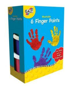 6 Finger Paints Washable - Acuarele Lavabile pentru Pictat cu Mana