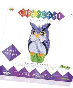 Creagami bufnita origami 3d creativamente