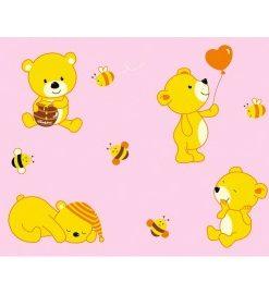 Lenjerie de pat cu ursuleti – roz