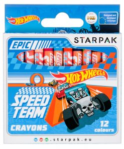 Set 12 creioane cerate Starpak, Hot Wheels
