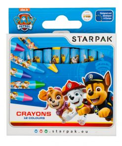 Set creioane cerate Starpak Paw Patrol, 12 culori