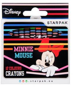 Set 12 creioane cerate Starpak, Minnie Mouse