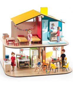 Casa papusii din lemn djeco