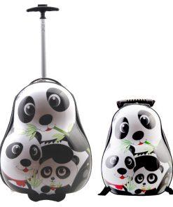 Set Troler si Ghiozdan Copii Panda