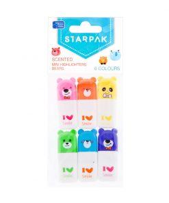 Mini markere parfumate Starpak, 6 culori