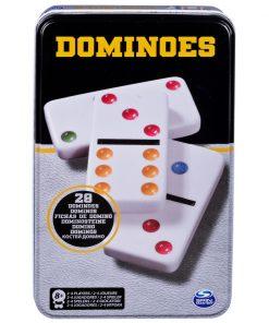 Joc Domino in cutie de metal, 28 de piese