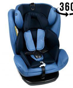 Scaun Auto Tweety Blue cu Isofix rotativ 360 grade Crocodile 0 36 kg baza neagra