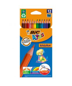 Set creioane colorate Evolution Bic, P12
