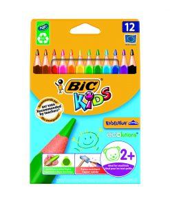 Set creioane colorate triunghiulare Evolution Triangle Bic, P12