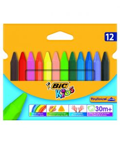 Set creioane cerate Plastidecor Triangle Bic, P12