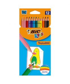 Set creioane colorate Tropicolors Bic, P12