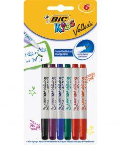 Markere asortate Velleda Kids Bic, 6 culori