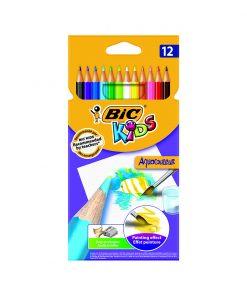 Set creioane colorate Aquacouleur Bic, P12