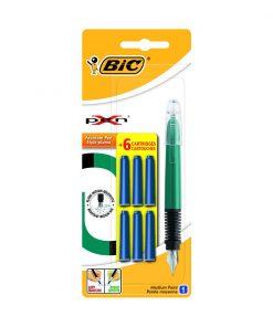 Stilou cu 6 rezerve Standard XPen Bic, Verde