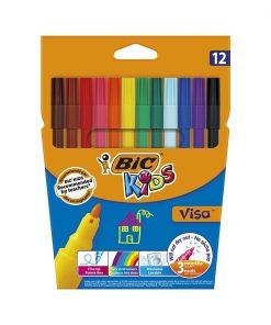 Set markere colorate lavabile Visa Bic, P12