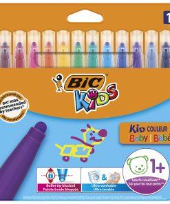 Markere colorate Kid Couleur Baby Bic, 12 culori