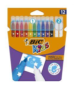 Set markere colorate si radiera Colour Erase Bic, P12