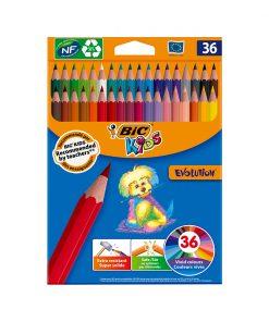 Set creioane colorate Evolution Bic, P36