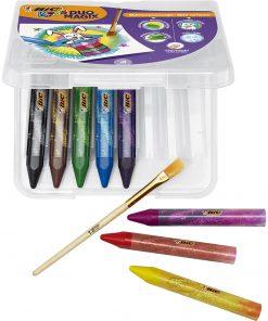 Creioane cerate Duomagix Bic, 8 culori