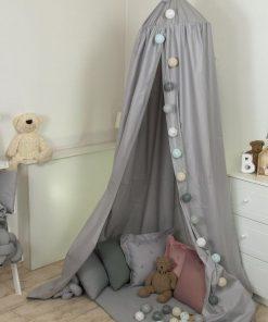 Baldachin suspendat multifunctional pentru copii Pure Grey bumbac 250x320 cm