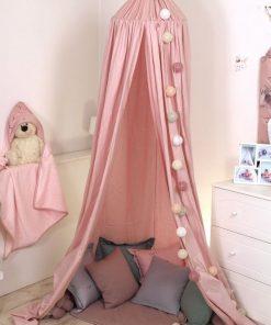 Baldachin suspendat multifunctional pentru copii Pure Rose bumbac 250x320 cm