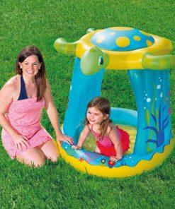 Centru de joaca gonflabil cu parasolar testoasa