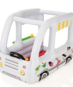 Centru de joaca gonflabil cu 10 bile masinuta de inghetata