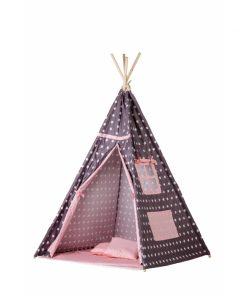 Cort de indieni tipi-04 ecotoys cu salteluta si perne - pink star