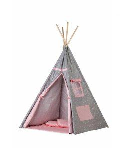 Cort de indieni tipi-05 ecotoys cu salteluta si perne - triangular craze