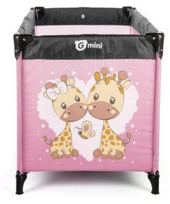 Patut pliant Nyja Giraffe Pink