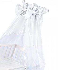 Baldachin universal pentru patut alb