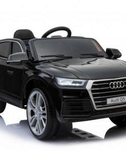 Masinuta electrica Audi Q5 cu scaun de piele si roti cauciuc Black